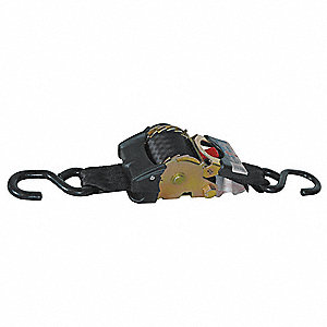 Tie Down Strap,Ratchet,Poly,10 ft.