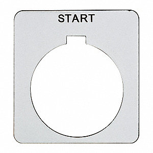 Legend Plate,Square,Start,White