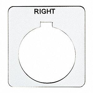 SCHNEIDER ELECTRIC Legend Plate,Square,Right,White