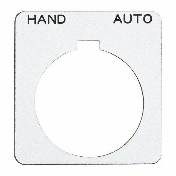 SCHNEIDER ELECTRIC 30mm Square Hand-Auto Legend Plate
