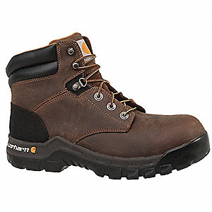 "6"" Work Boot,  8,  Wide,  Men's,  Brown,  Composite Toe Type,  1 PR"