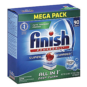 Dishwasher Detergent, Machine Wash, 55.30 oz. Box, Fresh Pacs, Ready To Use, 4 PK