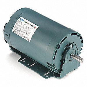 1 HP General Purpose Motor,3-Phase,1760 Nameplate RPM,Voltage 230/460,Frame 56H