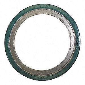 "304SS and Flexible Graphite Spiral Wound Metal Gasket, 23-7/8"" Outside Dia., Green, Yellow, Gray Str"