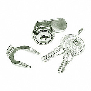 Alike-Keyed Standard Keyed Cam Lock Key # B352B, For Door Thickness (In.): 1/8, Satin Stainless