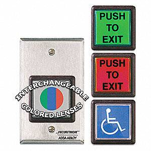 Push to Exit Button,SPDT,Momentary,5A