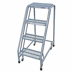 Rolling Ladder,30 in.H x 20 in.W,4 Steps