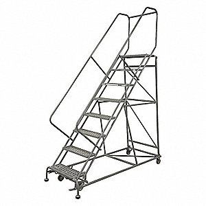 Rolling Ladder,110 in. H,50 deg.,800 lb.