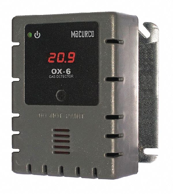 O2 Gas Detector, Controller, Transducer, Number of Channels 2, 12 to 24V AC or 12 to 32V DC, Height
