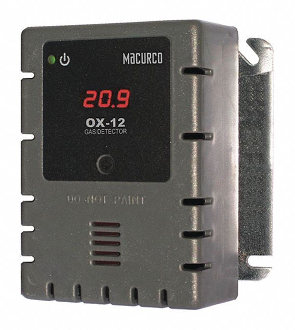 O2 Gas Detector, Controller, Transducer, Number of Channels 2, 100 to 240V AC (50 to 60 Hz), Height