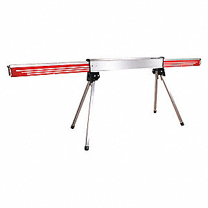 Portable Barricade Sys, Red, Reflective