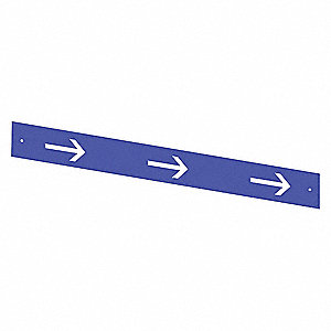 Printed Retract Insert,Blue/White Arrows