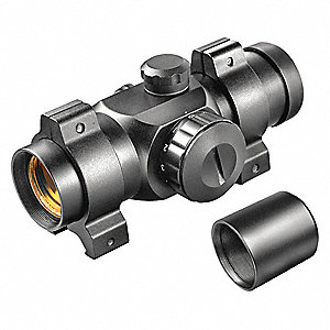 Rifle Scope, 1x Magnification, 25mm Objective Lens, 5 MOA Dot Reticle