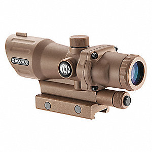 Rifle Scope, 4x Magnification, 30mm Objective Lens, Mil Dot Reticle
