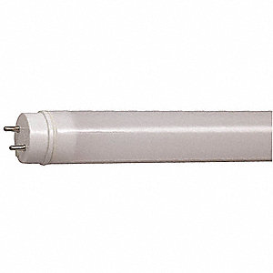 12.0 Watts LED Tube, T8, Medium Bi-Pin (G13), 1800 Lumens, 3500K Bulb Color Temp.