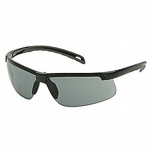 Ever-Lite Anti-Fog, Anti-Static, Scratch-Resistant Safety Glasses, Gray Lens Color