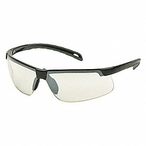 Ever-Lite Anti-Fog, Anti-Static, Scratch-Resistant Safety Glasses, Indoor/Outdoor Mirror Lens Color