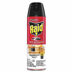 Ant and Roach Killer,  Aerosol,  17.5 oz.,  Outdoor Only,  DEET-Free DEET Concentration