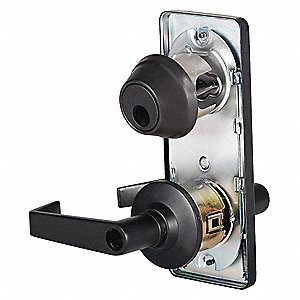 Door Lever Lockset, Oil Rubbed Bronze