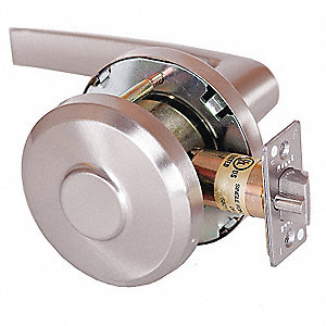 Lever Lockset, Mechanical, Lock is Keyless, Cylindrical