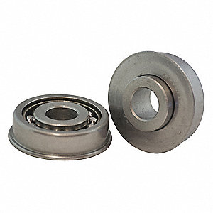 Flanged Ball Bearing,1-5/8in dia,500rpm