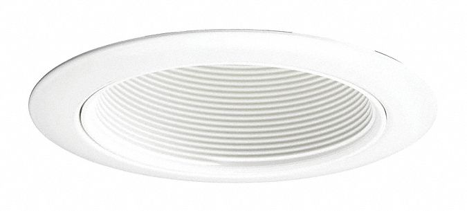 4 in White Open Style Halogen, Incandescent, LED Recessed Downlight Trim, White Baffle