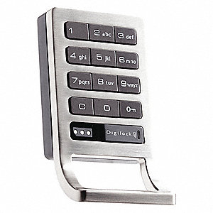 Zinc Electronic Keyless Lock with Keypad or Coded Key Fob Access and Brushed Nickel Finish