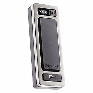 Zinc Electronic Keyless Lock with RFID Access and Brushed Nickel Finish