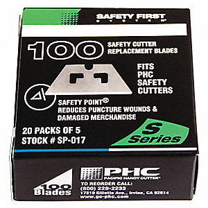 REPLACEMENT SAFETY BLADES, 100CT