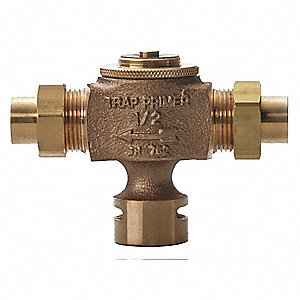 "Brass Bronze Drain Traps, 1/2"" Pipe Dia., Sweat Connection - Drains"