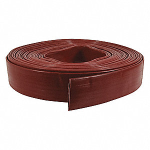 100 ft. Red Water Discharge Hose, 90 psi