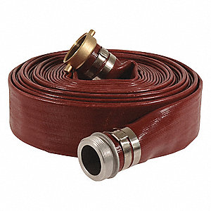 Water Disch Hose,2inx50ft,150 psi,Red