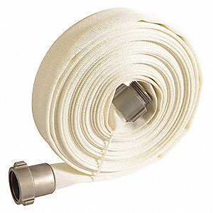 Fire Hose,1-1/2in.x100 ft.,NPSH,White