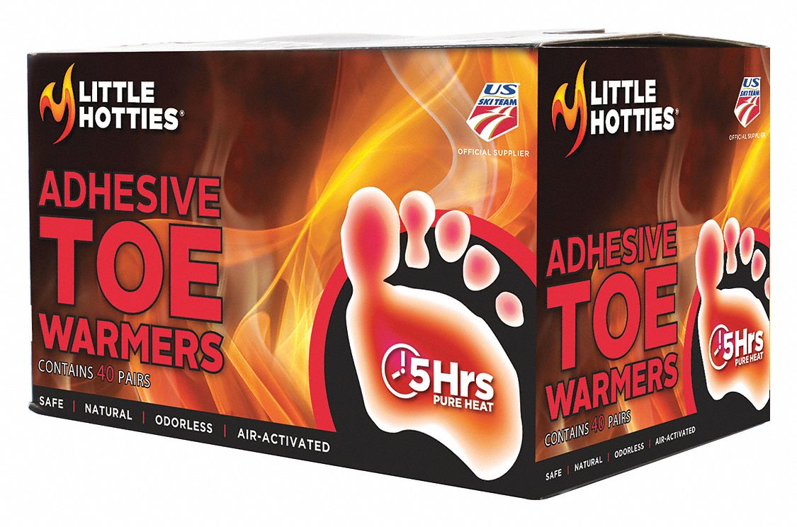 Toe Warmer, Up to 5 hr Heating Time, Activates By Contact with Air