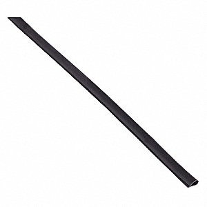 Silicone, Bulb Seal, Black, 25 ft Overall Length, 3/8 in Overall Width, 1/4 in Overall Height