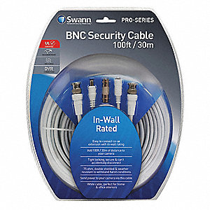 BNC Video Cable,12inHx4inL,Plastic
