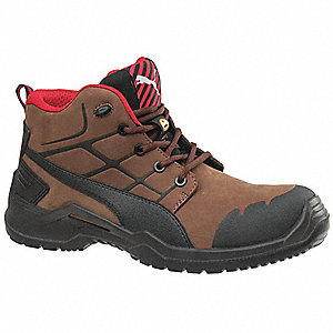 "6""H Men's Work Boots, Composite Toe Type, Brown, Size 14W"