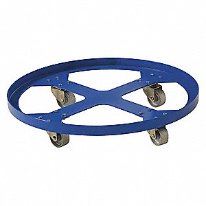 Drum Dolly,Blue,28 in. dia,1200 lb.