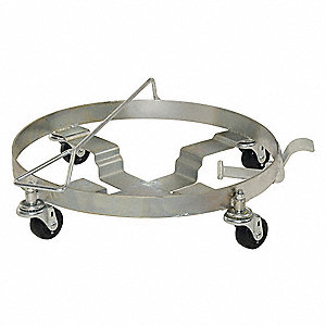 Drum Dolly,Silver,23-3/8 in. dia,1000 lb