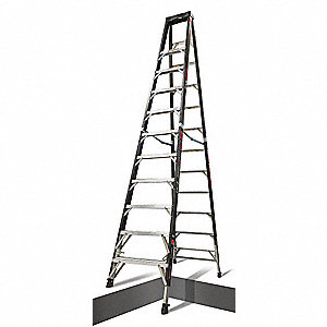 Stepladder,with Ratchet Legs,12 ft.H