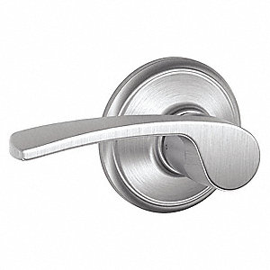 "Door Lever Lockset, Light Duty, 2-3/8"" or 2-3/4"" Backset, Cylindrical, Lever"