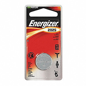 Coin Cell Coin Cell, Voltage 3, Battery Size 2025, 1 EA