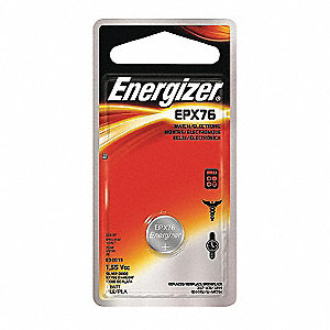 Silver Oxide Button Cell Battery, Voltage 1.5, Battery Size EPX76, 1 EA