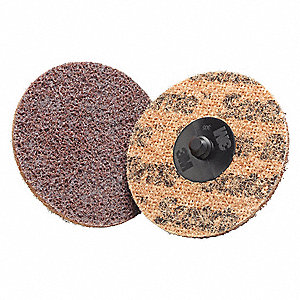 "2"" Non-Woven Quick Change Disc, TS/TSM Turn-On/Off Type 2, Coarse, Aluminum Oxide, 1 EA"