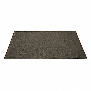 "Indoor/Outdoor Entrance Mat, 6 ft. L, 4 ft. W, 5/8"" Thick, Rectangle, Brown"