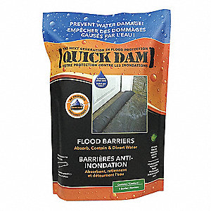 """WATER ACTIVATED FLOOD BARRIER,10FT L,6""""W"""