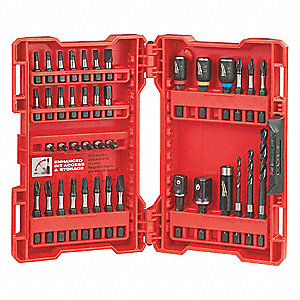"40-Piece Screwdriver Bit Set, 1/4"" Hex Shank Size"