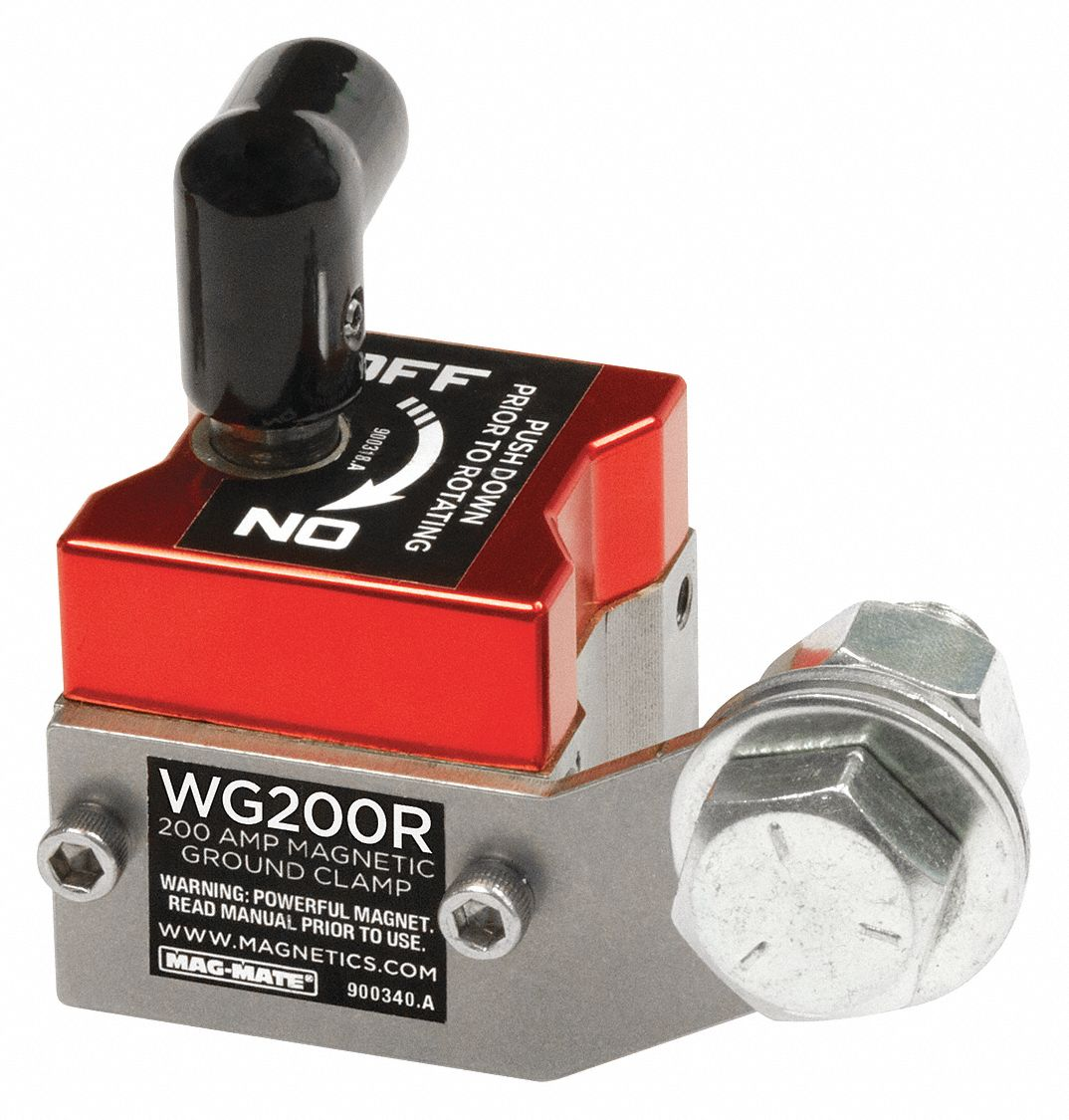 Amps: 200 A 150Lb 2-7//8X2-3//4In Mag-Mate Wg200r Magnetic Weld Ground