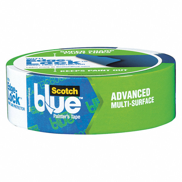 Scotch Blue Paper Painters Masking Tape Acrylic Tape Adhesive Thick 36mm X 55m Blue 1 Ea