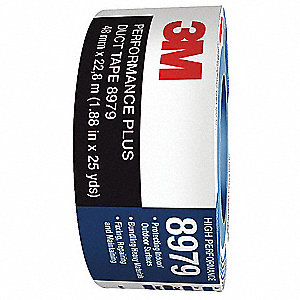 Industrial Duct Tape, 96mm X 60 yd., 12.10 mil Thick, Blue Coated Cloth, 1 EA